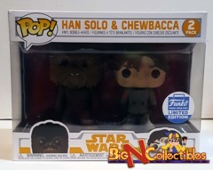Funko Pop! Star Wars - Han Solo & Chewbacca 2-Pack Funko Shop Exclusive