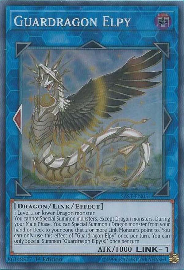 SAST-EN051 Guardragon Elpy Super Rare 1st Edition Mint YuGiOh Card