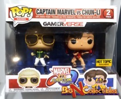 Funko Pop! Games Capcom Vs. Marvel - Captain Marvel Vs Chun-Li Exclusive