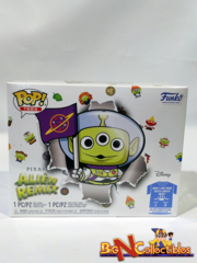 Funko Pop! Disney Pixar Alien Remix Buzz Lightyear GITD + Tee Lg In Hand