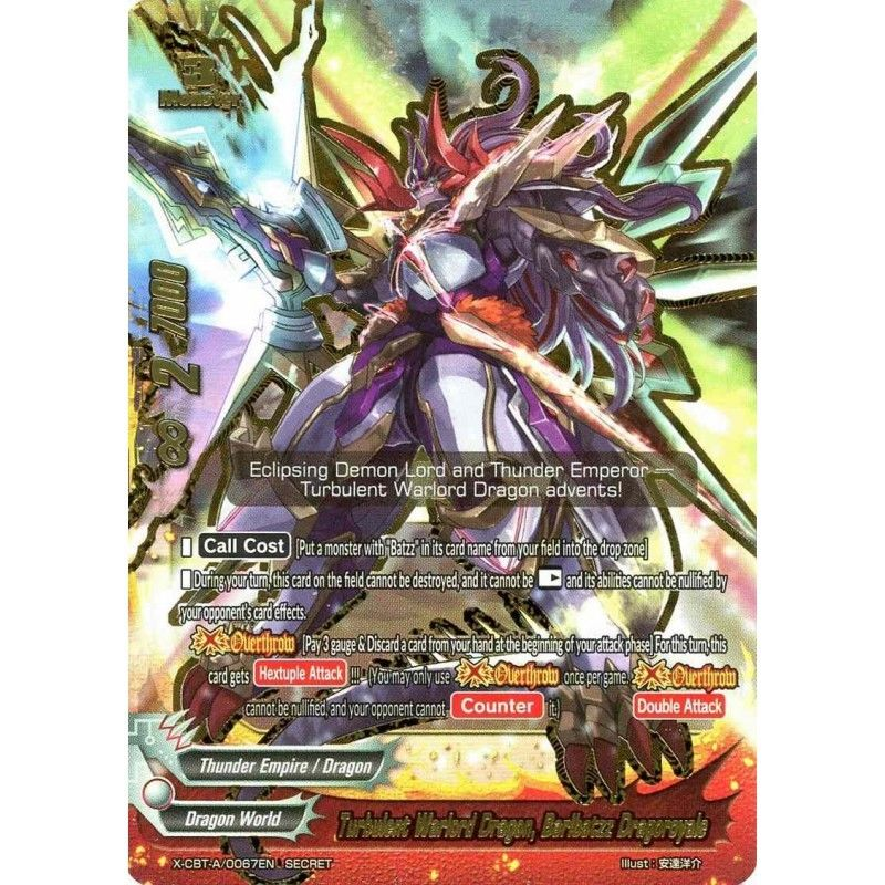 FUTURE CARD BUDDYFIGHT OVERTURN DEMON LORD ASMODAI X-CBT-A//0077EN SECRET