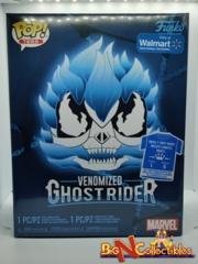 Funko Pop! & Tee - Marvel - Venomized Ghost Rider #369 Blue Exclusive - Large