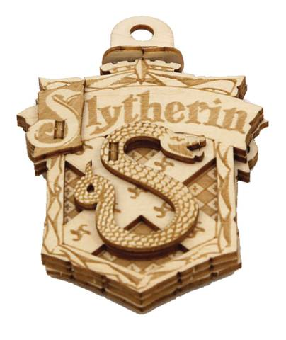 Harry Potter - Emblematics Slytherin Wood Decoration