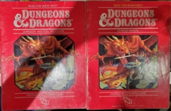 1st Edition (Advanced D&D) - Red Box Players Manual & Dungeon Masters Rulebook (Acceptable)