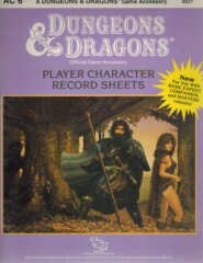 1st Edition (Advanced D&D) - AC6 Player Character Record Sheets (Acceptable)
