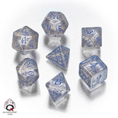 Q-Workshop - Elvish RPG Dice Set (Translucent Blue)