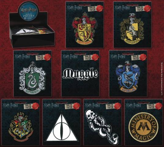 Harry Potter - Iron-On Patches (Slytherin)