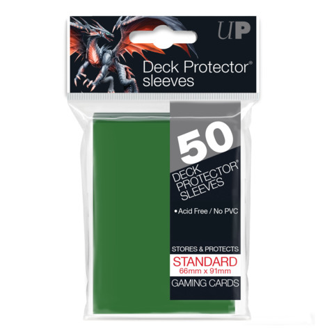 Ultra Pro - Solid Green 50 Count Standard Sleeves (82671)