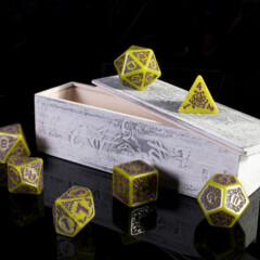 Titan Dice - Achlys Swamp Ooze with Amethyst Set of 7 Polyhedrals