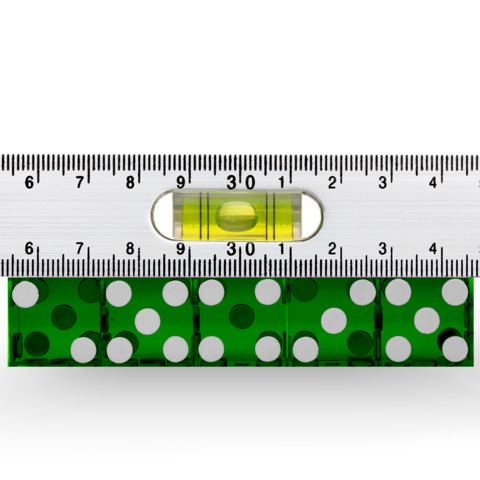 Precision Dice with Matching Serial Numbers (5 New Green 19mm Grade A)