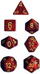 7-die Polyhedral Set - Speckled Mercury - CHX25323
