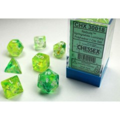 7-die Polyhedral Set - Nebula Spring with White & Luminary Effect - CHX30018