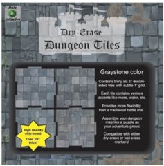 Role 4 Initiative - Dry-Erase 5 Inch Dungeon Tiles Graystone (36 tiles)