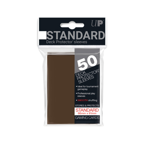 Ultra Pro - Solid Brown 50 Count Standard Sleeves (84027)