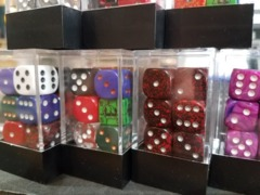 12 D6 Matched 12mm Dice Block (Various)