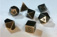 7-die Polyhedral Set - Solid Metal Dark Metal Color - CHX27028