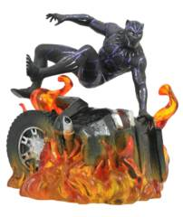 Marvel Gallery Black Panther  Flaming Car Figure PVC