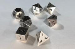 7-die Polyhedral Set - Solid Metal Silver Color - CHX27021