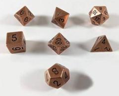 7-die Polyhedral Set - Solid Metal Copper Color - CHX27024