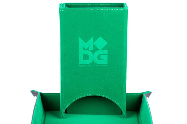 Metallic Dice Games - Velvet Folding Dice Tower (Green)