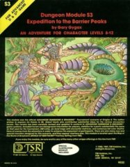 1st Edition (Advanced D&D) - S3 Expedition to the Barrier Peaks Module (Acceptable)