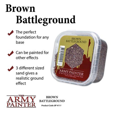Army Painter - Battlefields Basing: Brown Battlefield (BF4111)