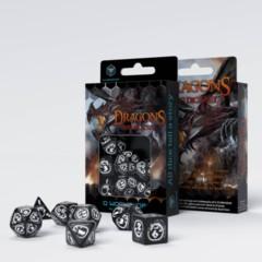 Q-Workshop - Dragons Black & White Dice Set