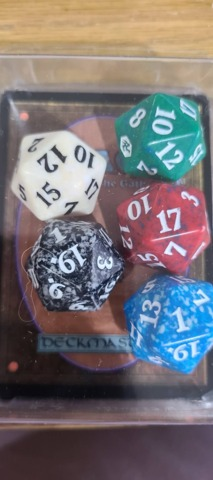 D20 Life Counter - Set of all five colors: Adventures in the Forgotten Realms  (Prerelease Kit version)