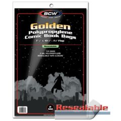 BCW - Resealable Golden Age Comic Bags (100 bags)
