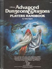 1st Edition (Advanced D&D) - Players Handbook (Very Good) (2nd Cover)