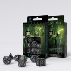 Q-Workshop - Elvish RPG Dice Set (Black & White)