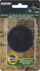 50 MM (2 Inch) Black Bases x10 (73595)