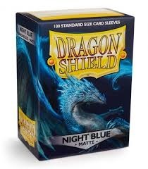 Dragon Shield - Matte Night Blue 100 Count Standard Sleeves