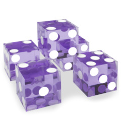 Precision Dice with Matching Serial Numbers (5 New Purple 19mm Grade A)