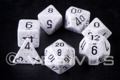 7-die Polyhedral Set - Speckled Artic Camo - CHX25311