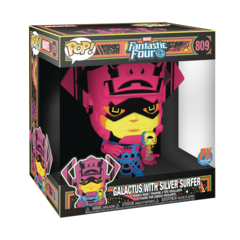 Jumbo Galactus with Silver Surfer (Previews Exclusive Black Light 10 inch Figure)