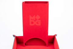 Metallic Dice Games - Velvet Folding Dice Tower (Red)