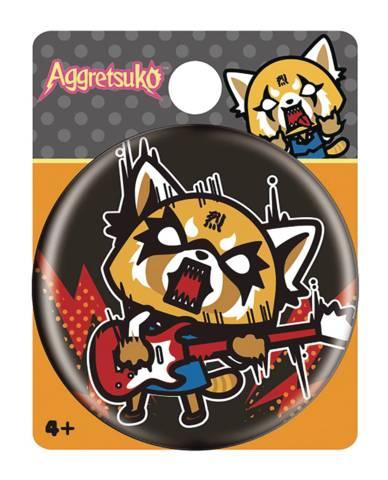 Aggretsuko - Rock Out Button Pin