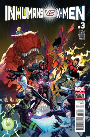 Inhumans Vs X-Men Marvel Graphic Novel Comic Book