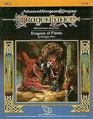 1st Edition (Advanced D&D) - Dragonlance: Dragons of Flame (DL2) Adventure (Acceptable)