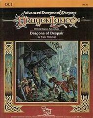 1st Edition (Advanced D&D) - Dragonlance: Dragons of Despair (DL1) Adventure (Acceptable)
