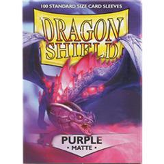 Dragon Shield - Matte Purple 100 Count Standard Sleeves
