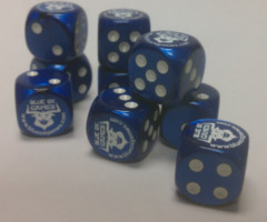 Dice - Blue Ox die (d6)