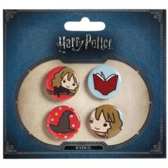 Harry Potter - Hermione and the Sorting Hat Button Set