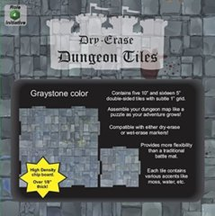 Role 4 Initiative - Dry-Erase 5 Inch & 10 Inch Graystone Dungeon Tiles (21 tiles)