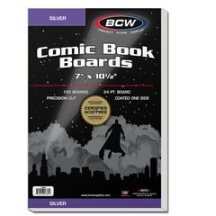 BCW - Silver Comic Backing Boards (100 boards)
