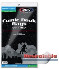 BCW - Resealable Current / Modern Comic Bags (100 bags)
