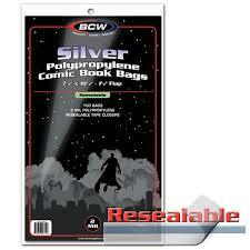 BCW - Resealable Silver Comic Bags (100 bags)