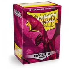 Dragon Shield - Matte Magenta 100 Count Standard Sleeves