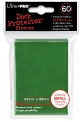 Ultra Pro - Solid Green 60 Count Mini Sleeves